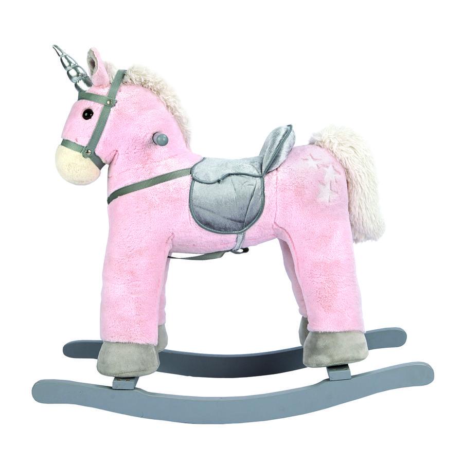 Bino Animal à bascule licorne bois, rose