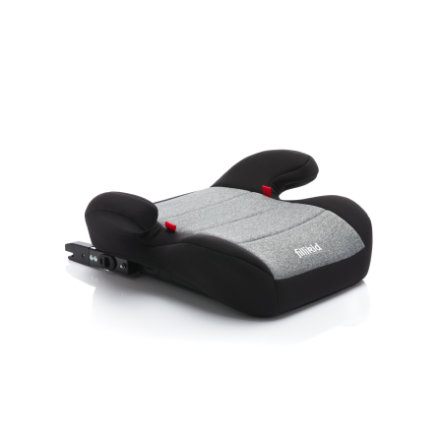 fillikid Sitzerhöhung mit einklappbarer Isofix Halterung Grau Melange