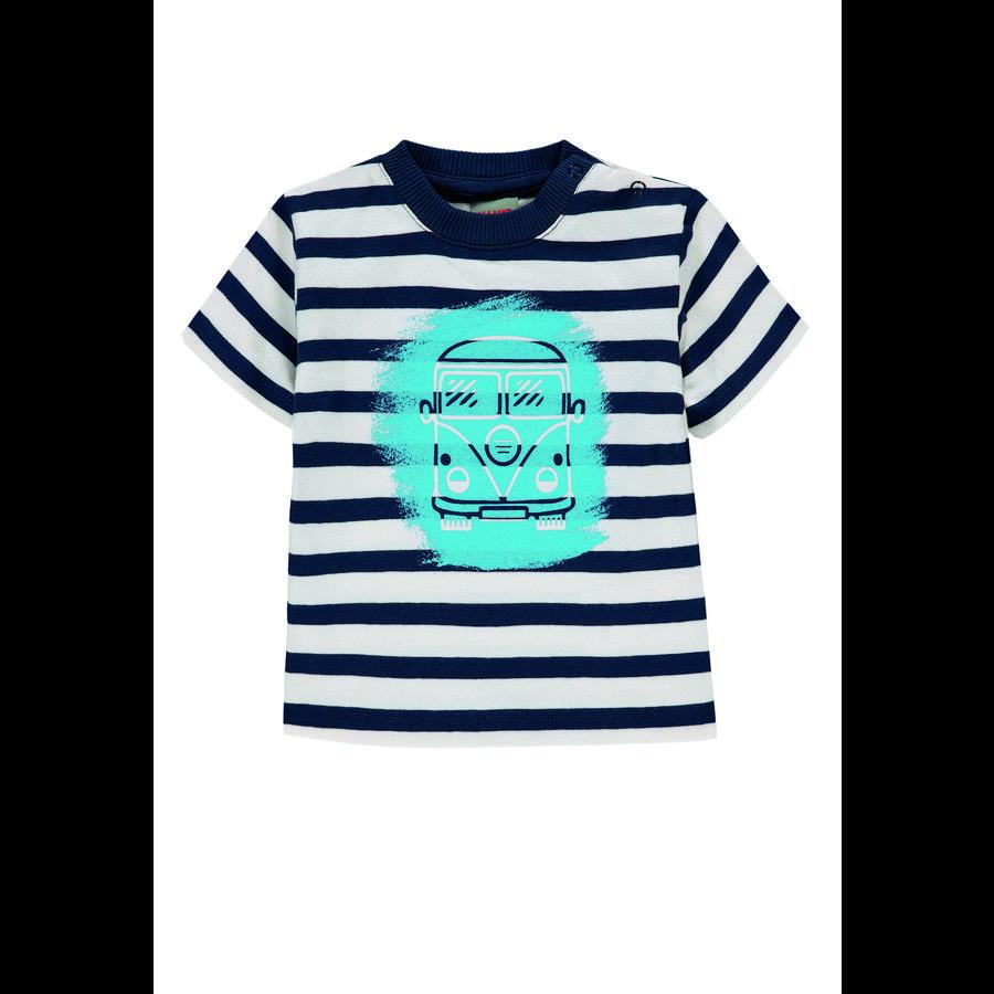 KANZ Gutter T-skjorte, y / d stripe   flerfarget utg