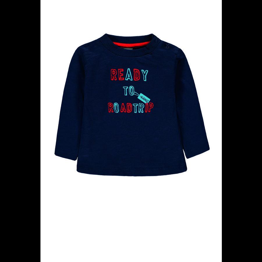 KANZ Jongens shirt met lange mouwen, insigne blauwblauw