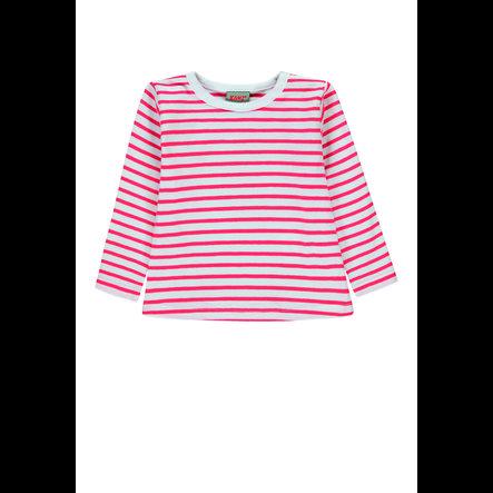 KANZ Dívčí košile s dlouhým rukávem, pruh y / d | vícebarevné ed