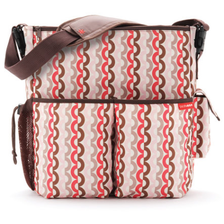 SKIP HOP Duo Deluxe Wickeltasche Pink Links