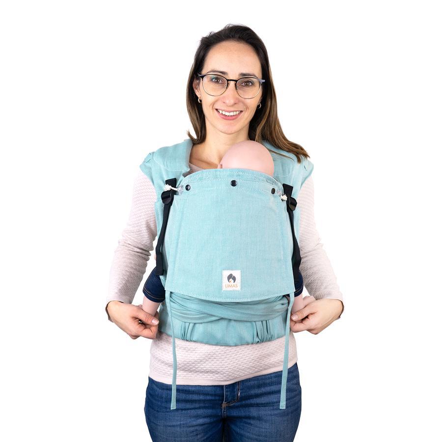 LIMAS Porte-bébé dorsal/ventral Plus turquoise