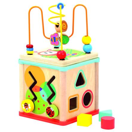 Bino Cube de motricité et horloge bois