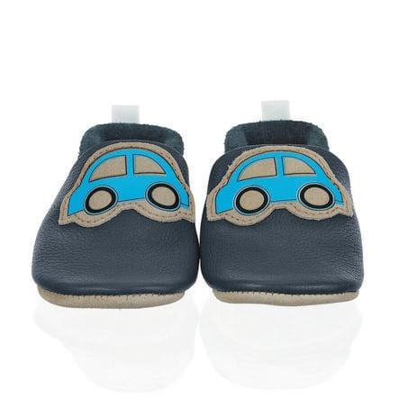 Sterntaler Cuir de chaussures pour bébés rampants marine