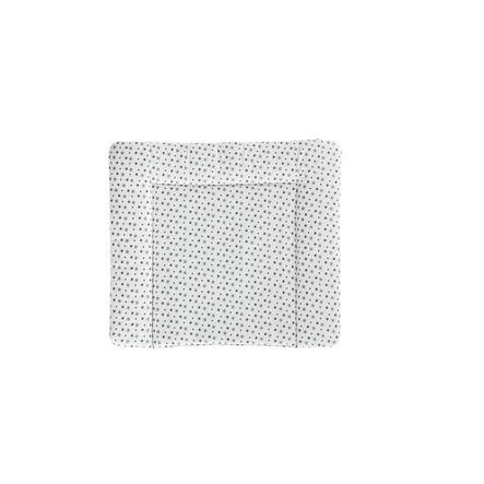 Träumeland Wickelauflage weiß mit grauen Sternen 75 x 85 cm
