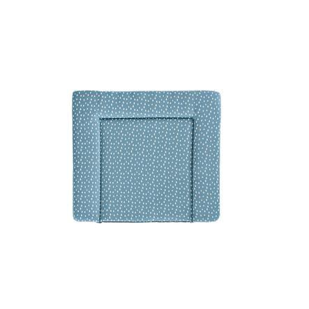 Träumeland Matelas à langer gouttes bleu azur 75x85 cm