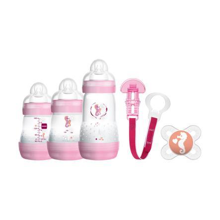 MAM Baby Starter Set rosa 5 teilig