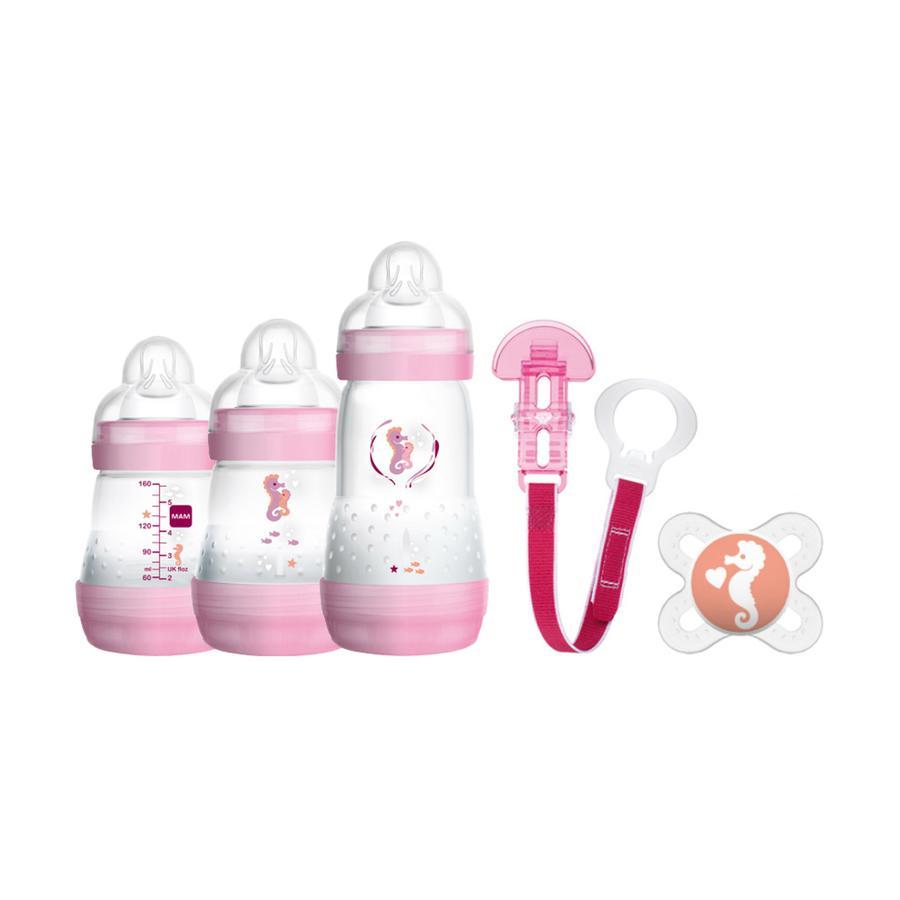 MAM Set Regalo - 5 pezzi per bambina, libero da BPA