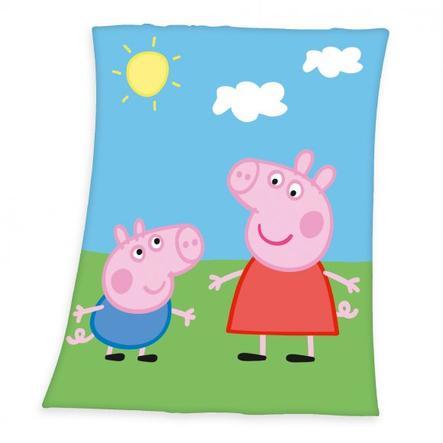HERDING Fleece tæppe Peppa Pig 130x160cm