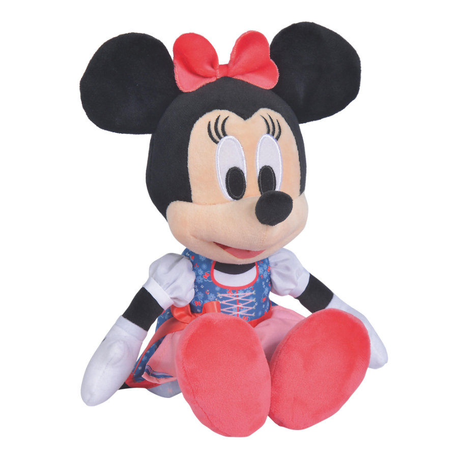 Simba Peluche Minnie Disney rode dirndl, 25 cm