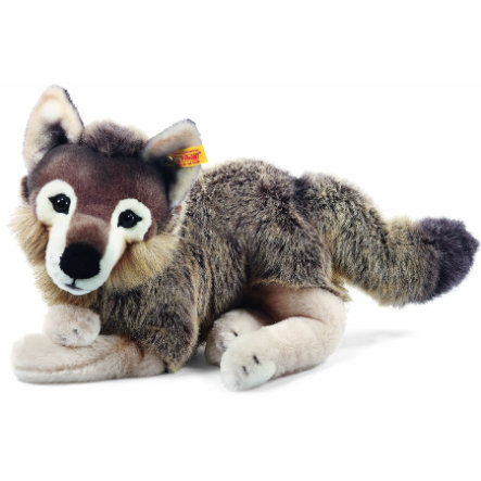 STEIFF Snorry Dangling Wolf, 40 cm, grey/brown