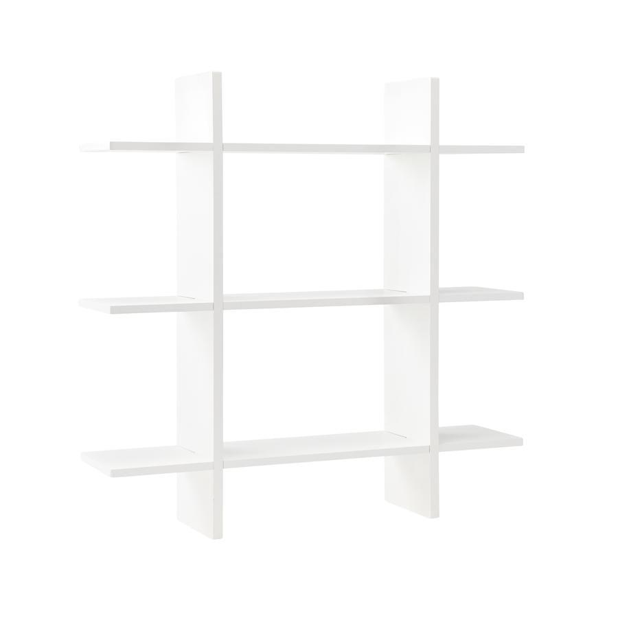 Kids Concept® vegghylle 3 nivåer 70 x 70 cm, hvit