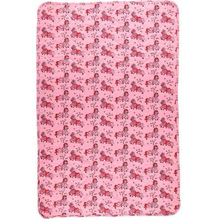 Smafolk Babydecke Pferde 100x150 cm Sea pink
