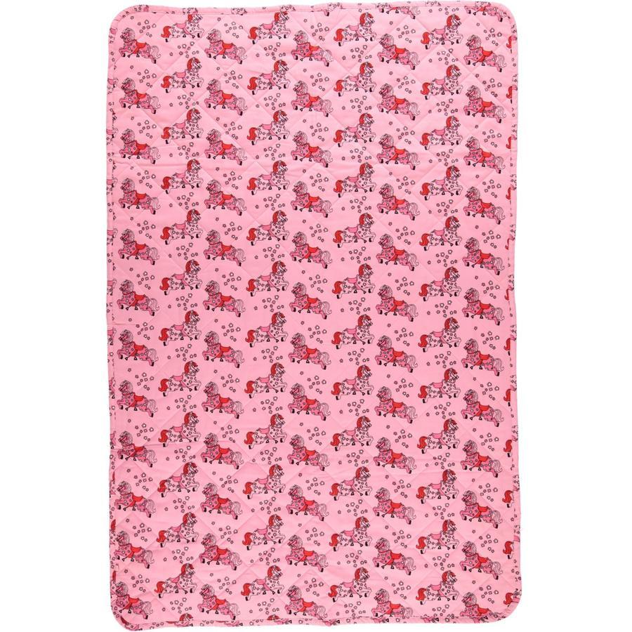 Smafolk Couverture bébé chevaux Sea pink 100x150 cm