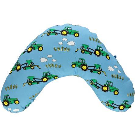 Smafolk Stillkissen mit Bezug Traktor Blue Grotto