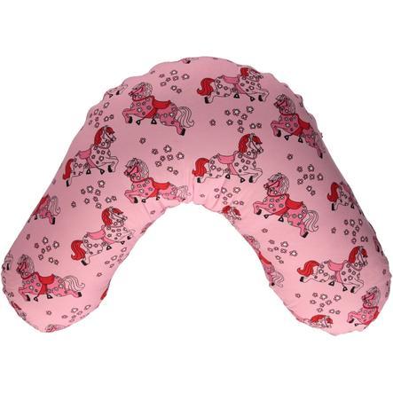 Smafolk Cuscino per allattamento con copertura Traktor Sea pink