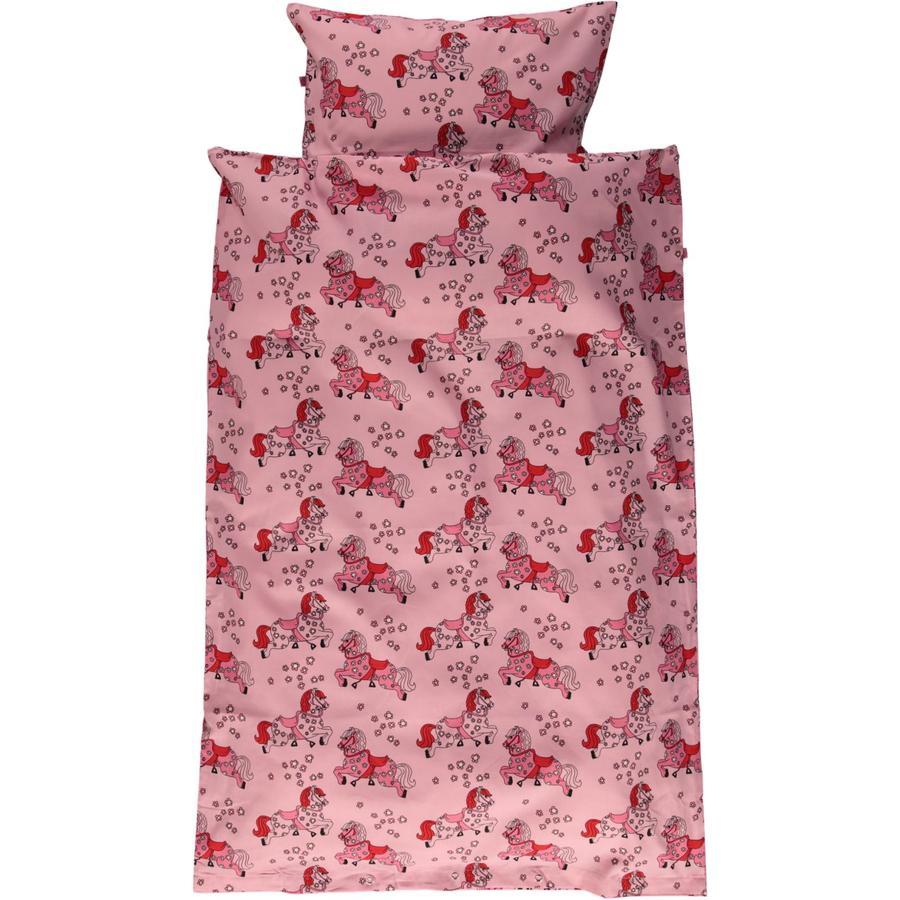 Smafolk Baby Bettwäsche Pferde Sea pink 70x100 cm