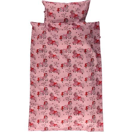 Smafolk Parure de lit enfant Junior chevaux Sea pink 100x140 cm