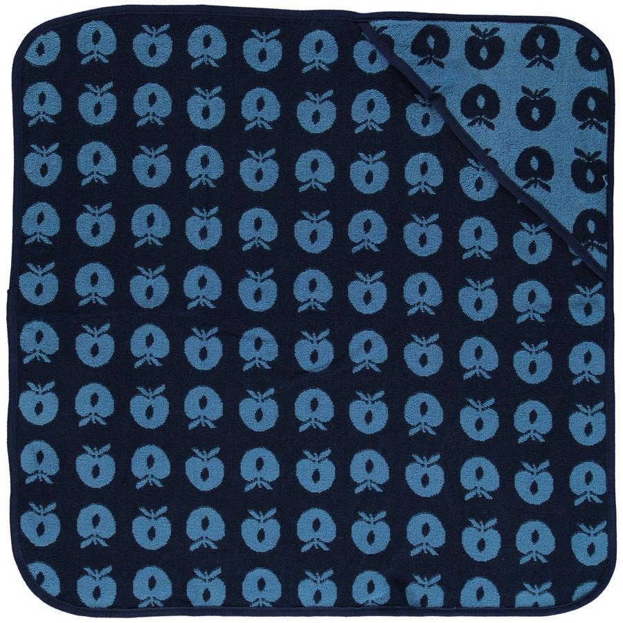 Smafolk Serviette de bain à capuche pomme Grotte bleue 70x70