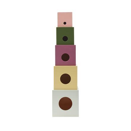Kids Concept® Cubes à empiler Edvin bois