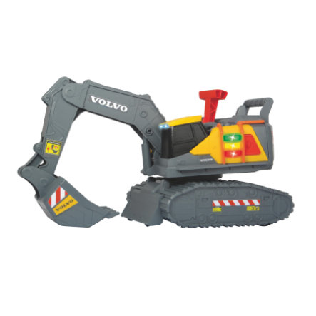 DICKIE Toys Excavatrice enfant Volvo Weight Lift jaune/gris