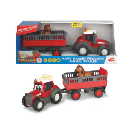DICKIE Toys Happy Massey Ferguson Animal Trailer