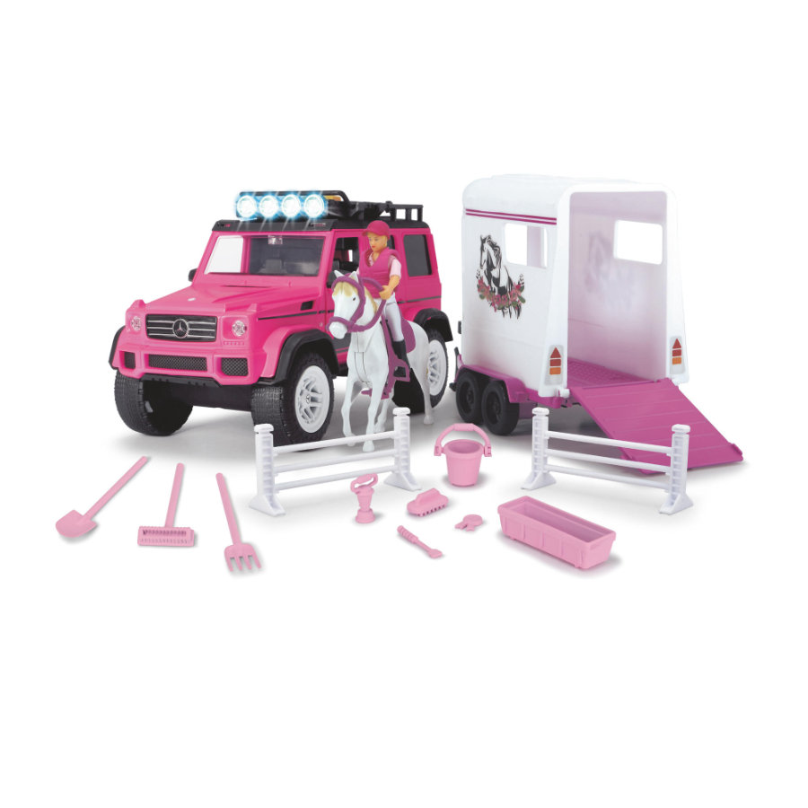 DICKIE Toys Playlife-Horse Trailer Set, pink