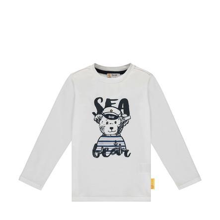 Steiff Boys tričko s dlouhým rukávem, b pravé bílé