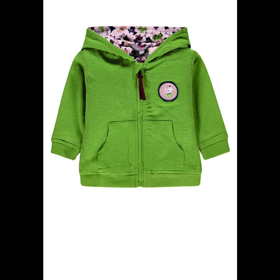 KANZ Sweatjacket pour garçons avec capuche, vert