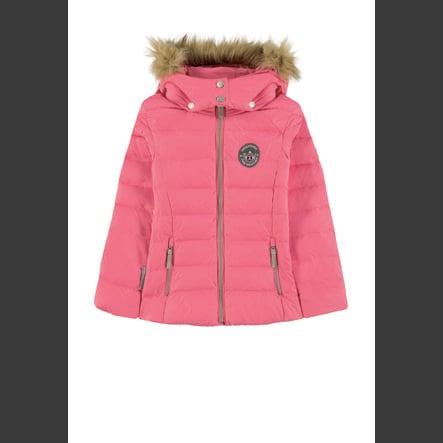 VSTUPENKA DO HEAVEN Dlouhá bunda Down Maya s odnímatelnou kapucí, růžová