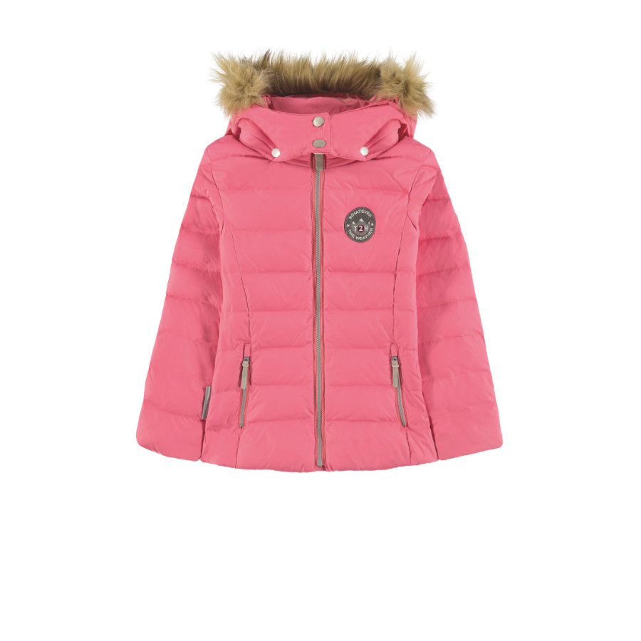 TICKET TO HEAVEN Lange Jacke Daune Maya mit abnehmbarer Kapuze, rosa