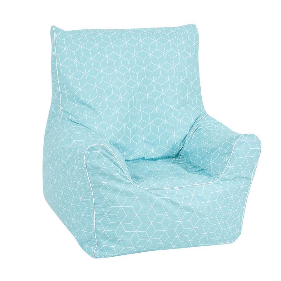 knorr® toys Kindersitzsack Junior - Geo cube neo mint