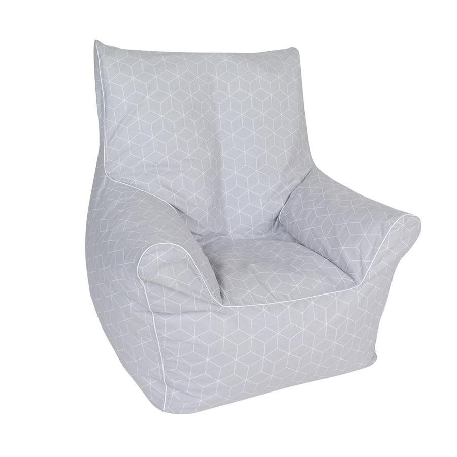 knorr® toys Kindersitzsack Junior - Geo cube grey