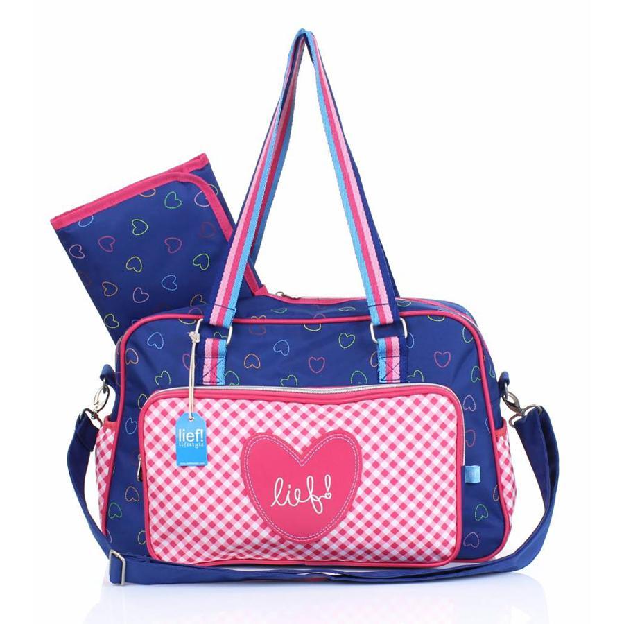 LIEF! Sprinkles - Přebalovací taška pink-blue