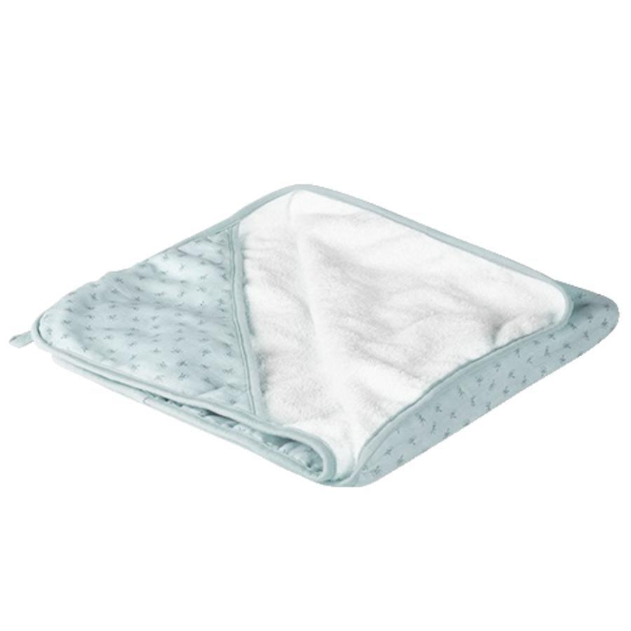 roba Serviette de bain à capuche enfant Lil Planet bleu clair 80x80 cm