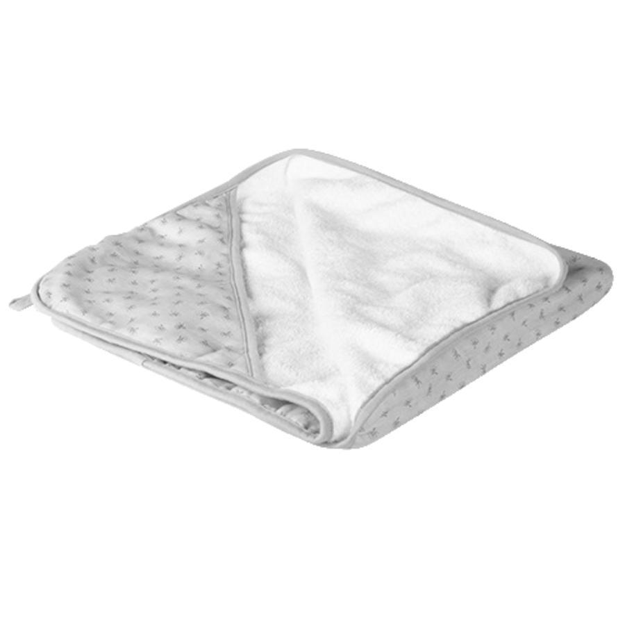 roba Serviette de bain à capuche enfant Lil Planet gris 80x80 cm