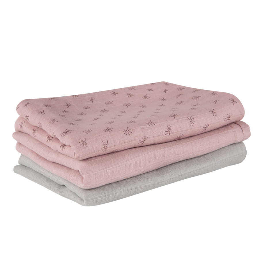 roba Pannolini di garza 3 pz. set Lil Planet pink 80 x 80 cm