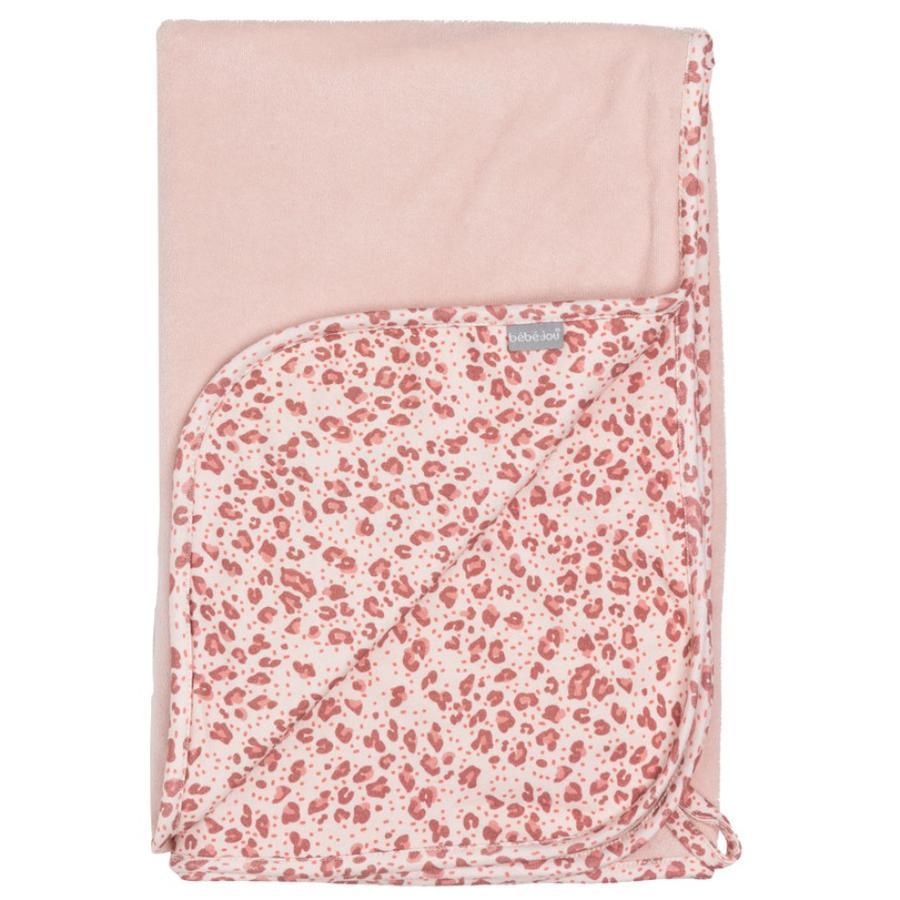 bébé jou® Multi-Tuch Leopard Pink 100 x 75 cm