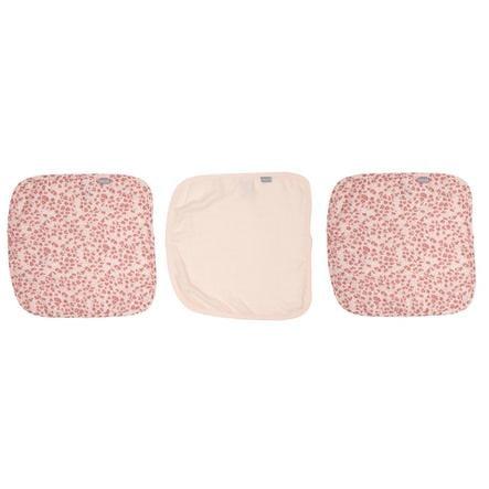 bébé jou® Spucktücher 3er-Pack Leopard Pink