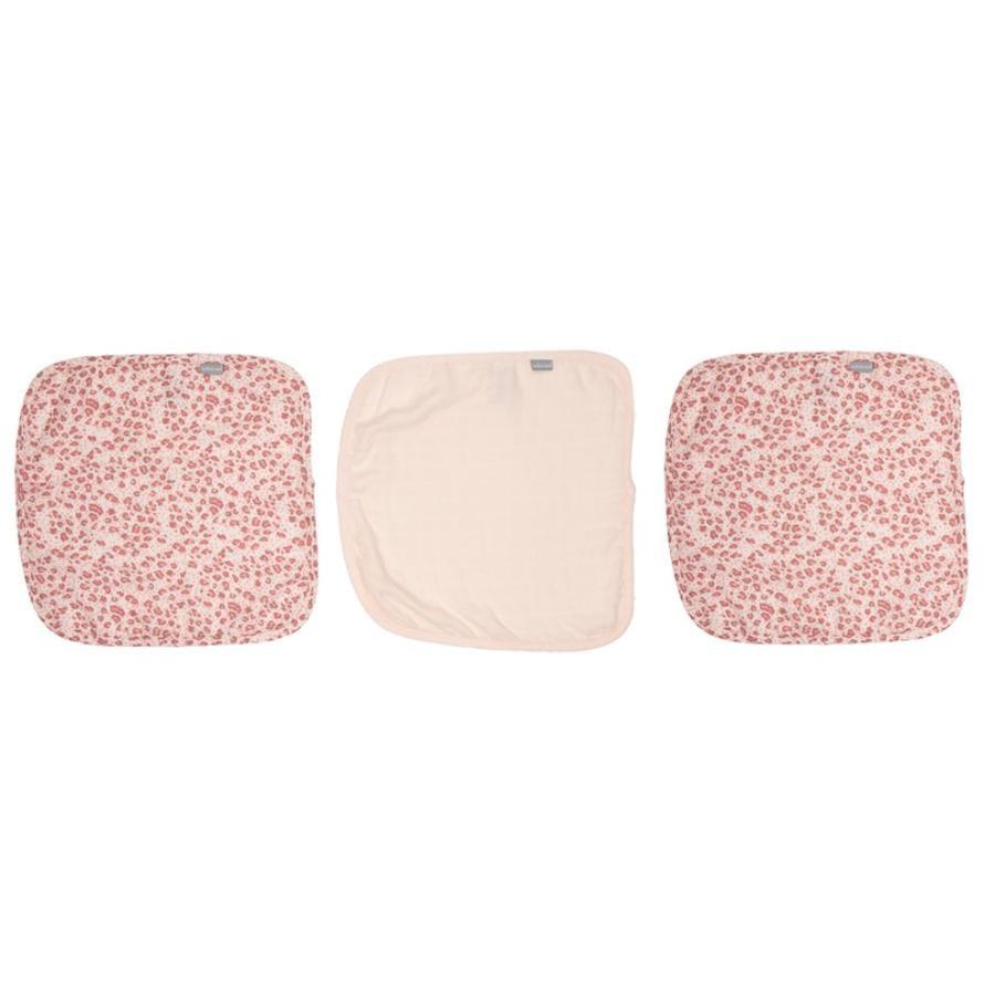 bébé jou® prodyšné látky, 3 balení, Leopard Pink
