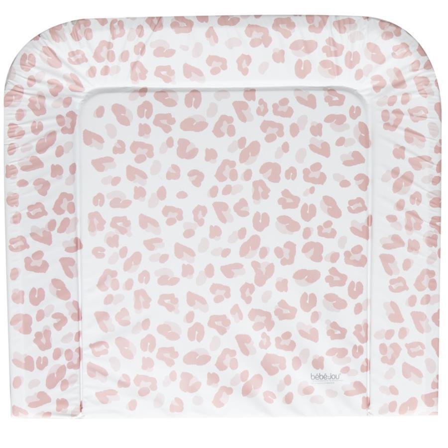 bébé jou® Materassino per fasciatoio, rosa leopardo 72x77 cm