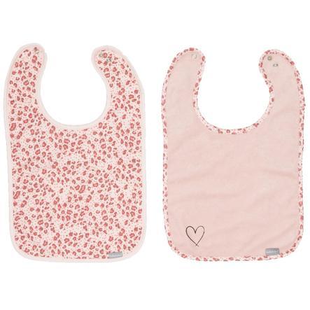 bébé jou® Lätzchen Leopard Pink 2er-Pack