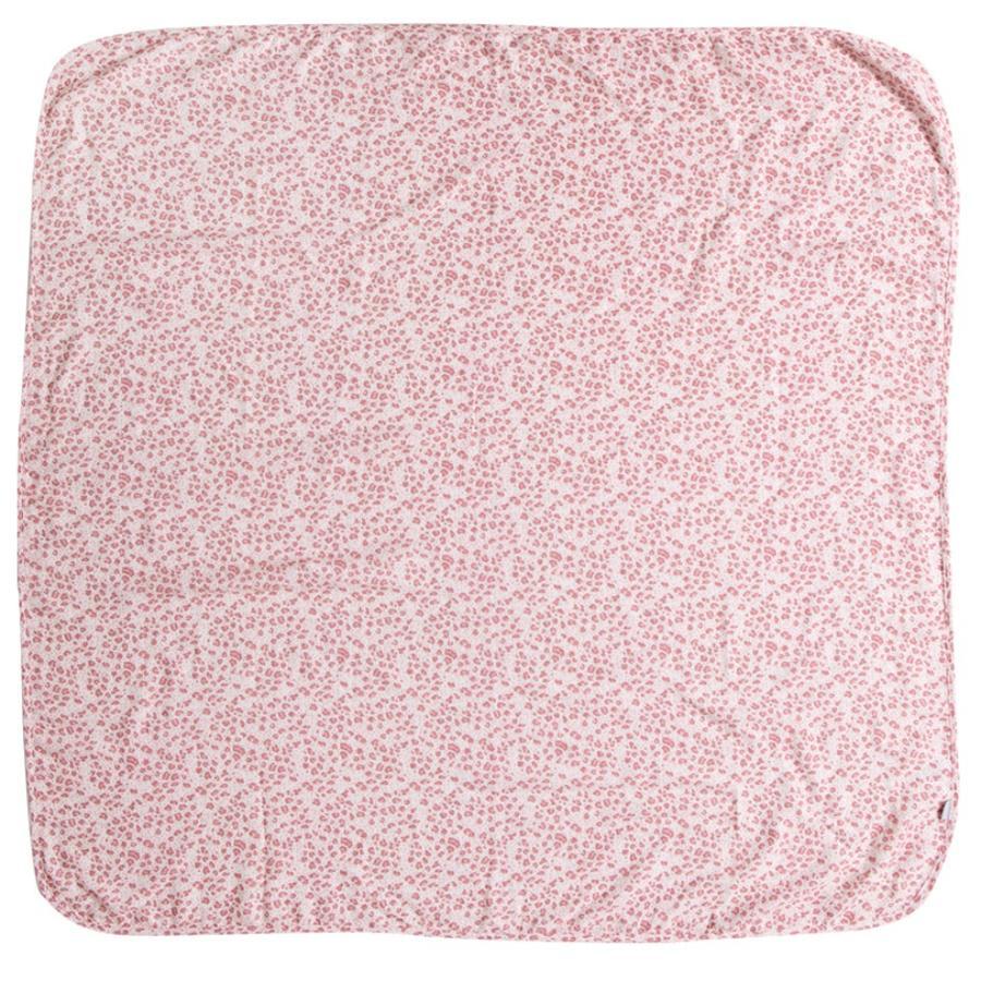 bébé jou® panno di garza rosa leopardo 110 x 110 cm