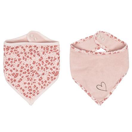 bébé jou Bandana Lätzchen Leopard Pink 2er-Pack