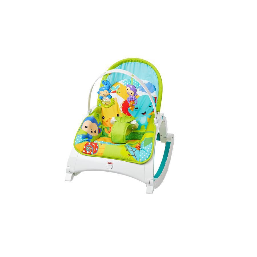 Fisher-Price® Transat balancelle bébé 2en1 Rainforest compact
