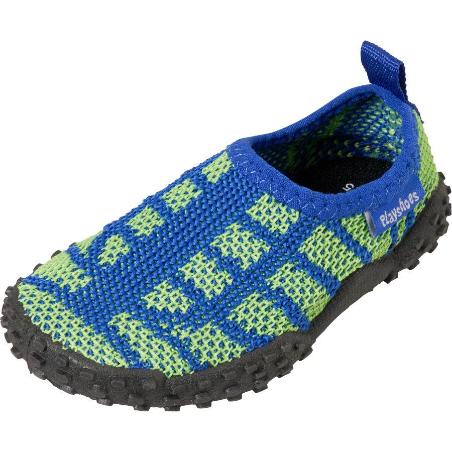 Playshoes Strick-Aqua-Schuh blau/grün