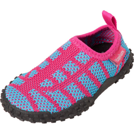 Playshoes Strick-Aqua-Schuh pink/türkis