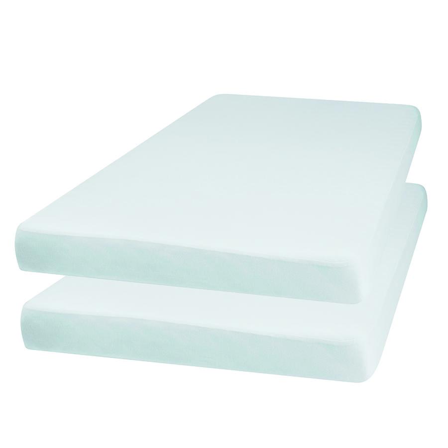 Playshoes Drap housse enfant Jersey blanc 70x140 cm lot de 2