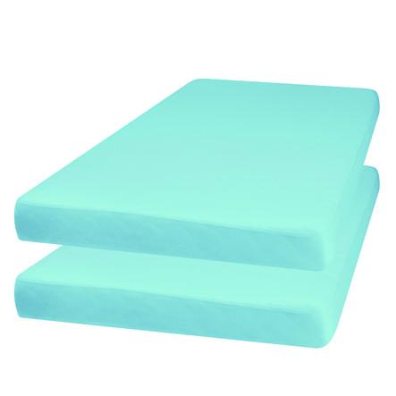 Playshoes Jersey Stræklagen 2-pak lys blå